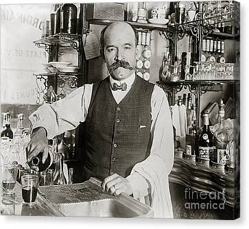 Speakeasy Bartender Canvas Print by Jon Neidert