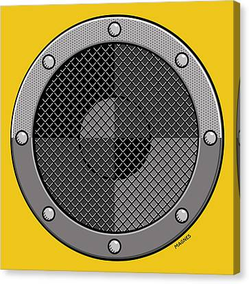 Canvas Print featuring the digital art Speaker by Ron Magnes