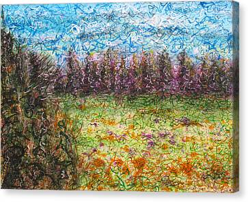 Speaking The Landscape Canvas Print by Jason Messinger
