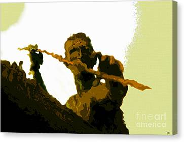 Spearfishing Man Canvas Print by David Lee Thompson