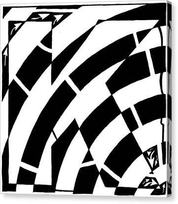 Special Maze - K Canvas Print by Yonatan Frimer Maze Artist