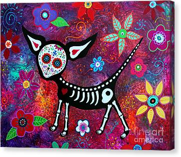 Canvas Print featuring the painting Special Perrito by Pristine Cartera Turkus