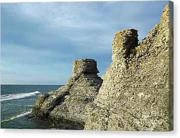 Canvas Print featuring the photograph Spectacular Eroded Cliffs  by Kennerth and Birgitta Kullman