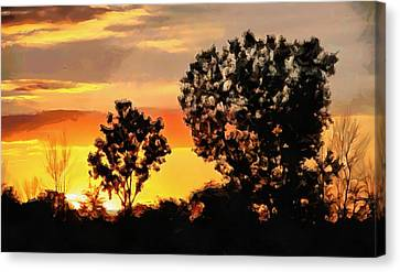 Spectacular Sunset In The Midwest Canvas Print by Dan Sproul