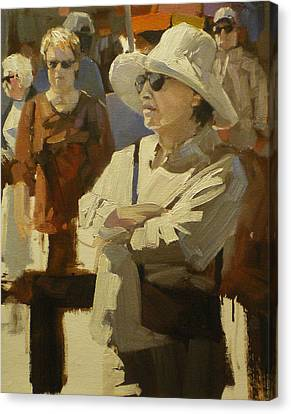 Spectators Canvas Print by David Simons