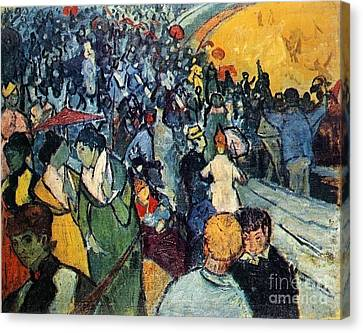 Spectators In The Arena At Arles Canvas Print