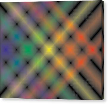 Spectral Shimmer Weave Canvas Print by Kevin McLaughlin