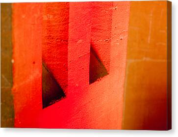 Hidden Face Canvas Print - Spectre In The Wall by Christi Kraft
