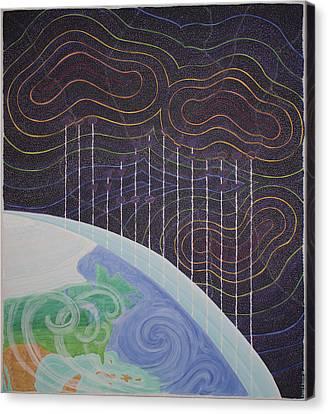 Spectrum Earth Spacescape Canvas Print
