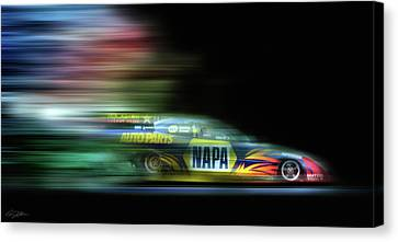 Speed Coloring Canvas Print by Peter Chilelli