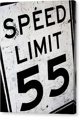 Speed Limit Canvas Print by Audrey Venute