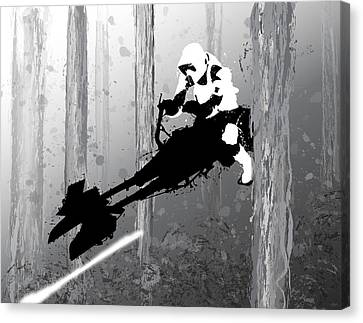 Speeder Bike Canvas Print by Nathan Shegrud