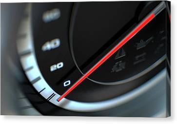 Speedometer Canvas Print - Speedometer by Allan Swart