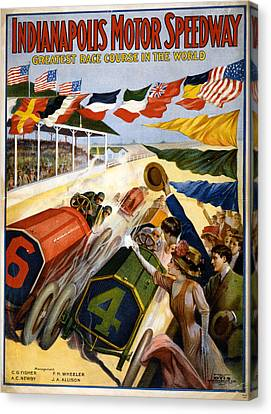 Speedway Canvas Print by Charles Shoup