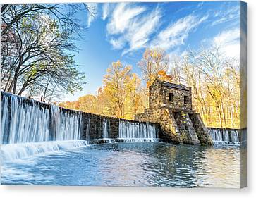 Canvas Print featuring the photograph Speedwell Dam Waterfall by Mihai Andritoiu