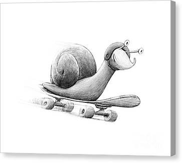 Ipad Design Canvas Print - Speedy by Michael Ciccotello