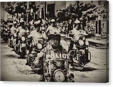 Speedy Motorcycle Canvas Print by Bill Cannon
