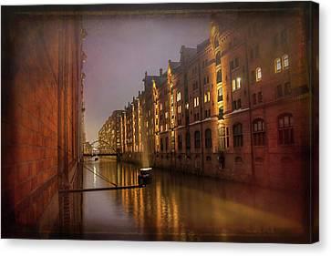 Deutschland Canvas Print - Speicherstadt Hamburg By Night  by Carol Japp