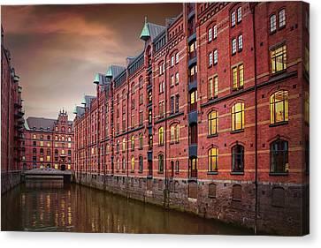 Gothic Germany Canvas Print - Speicherstadt Hamburg Germany  by Carol Japp