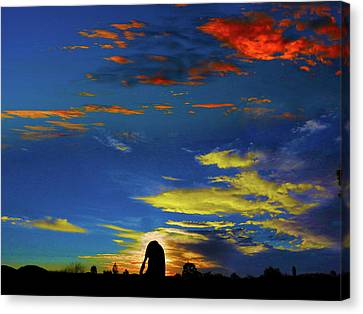 Canvas Print featuring the photograph Spellbinding Sunset by Mark Blauhoefer