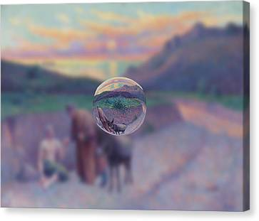 Sphere 10 Luce Canvas Print