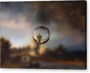 Sphere 13 Rembrandt Canvas Print by David Bridburg
