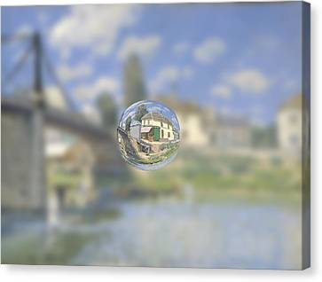 Sphere 18 Sisley Canvas Print by David Bridburg