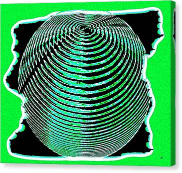 Sphere In Green Canvas Print by Will Borden