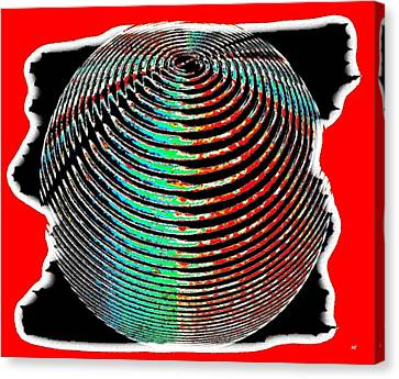 Sphere In Red Canvas Print by Will Borden
