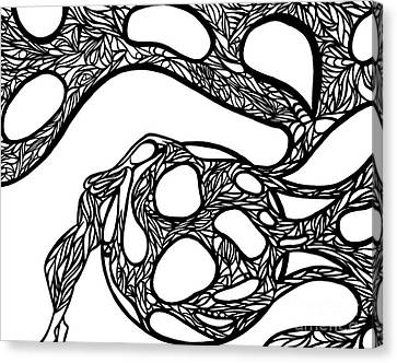 Canvas Print featuring the drawing Sphere by Jamie Lynn
