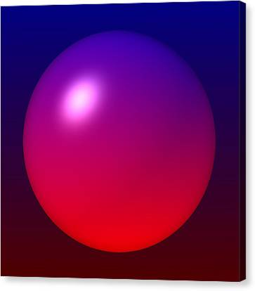 Canvas Print featuring the digital art Sphere by Lyle Hatch
