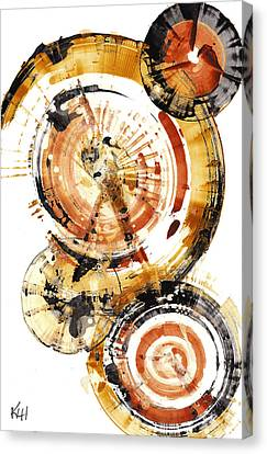 Canvas Print featuring the painting Sphere Series 1020.050112 by Kris Haas