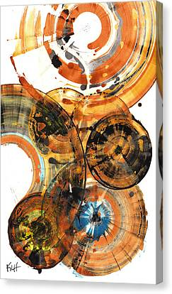 Canvas Print featuring the painting Sphere Series 1024.050312 by Kris Haas