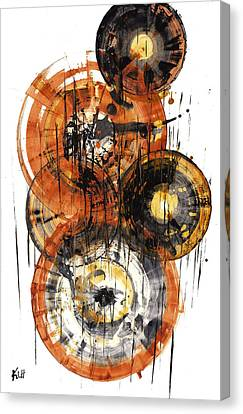 Canvas Print featuring the painting Sphere Series 1028.050412 by Kris Haas