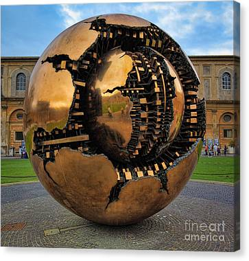 Sphere Within Sphere Canvas Print by Inge Johnsson