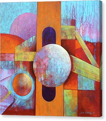 Spheres And Beams Canvas Print by J W Kelly