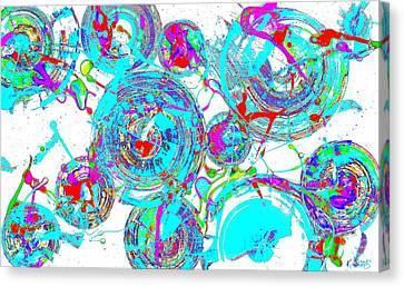 Spheres Series 1511.021413invfddfs-sc-2 Canvas Print by Kris Haas