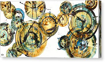 Abstract Expressionism Canvas Print - Spherical Joy Series 116.051911panel123 by Kris Haas