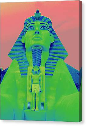 Sphinx And Pink Sky Canvas Print