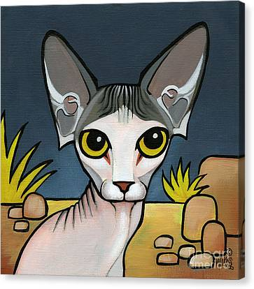 Sphinx Cat Canvas Print by Leanne Wilkes