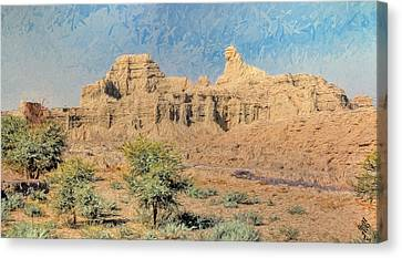 Sphinx Of Hungol National Park Canvas Print by Syed Muhammad Munir ul Haq