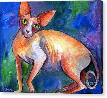 Sphynx Cat 4 Painting Canvas Print by Svetlana Novikova