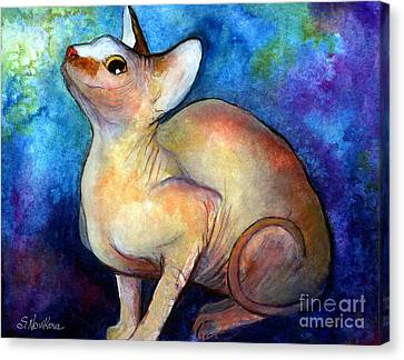Sphynx Cat 5 Painting Canvas Print by Svetlana Novikova