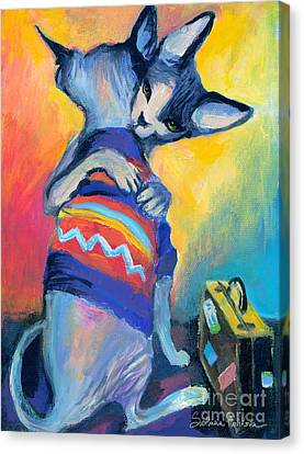 Sphynx Cats Friends Canvas Print by Svetlana Novikova