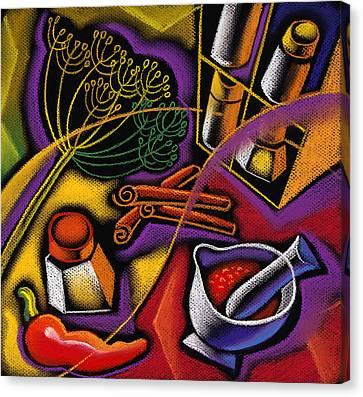 Spice Art Canvas Print by Leon Zernitsky