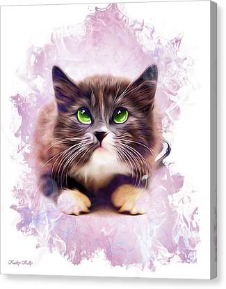 Spice Kitty Canvas Print by Kathy Kelly
