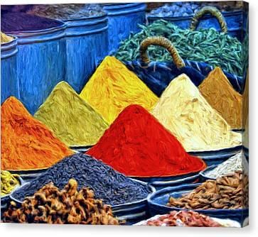 Spice Market In Casablanca Canvas Print