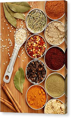 Spices Canvas Print by HD Connelly