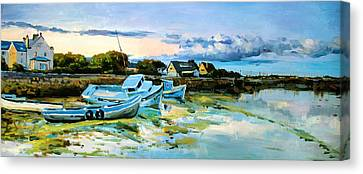 Spiddal Harbour Canvas Print by Conor McGuire