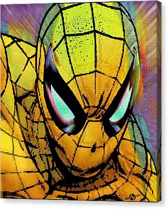 Spider-man Pop Gold Canvas Print by Tony Rubino